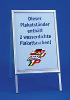 Plakatständer mit wasserdichten Plakattaschen