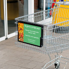 Sign Holder for Shopping Carts