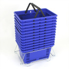 Set of 12 Large Shopping Baskets with Stand