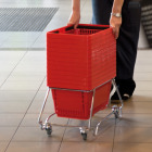 Standard Shopping Basket Stacker Cart with wheels